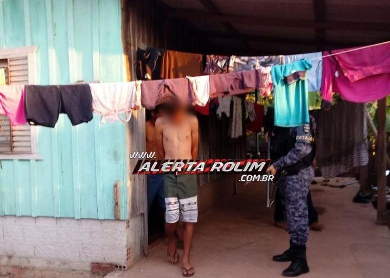 Rolim de Moura – PC e PM prendem foragido de Ariquemes, envolvido em roubos de Caminhonetes em Alto Alegre e Joalheria em Santa Luzia