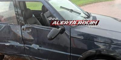 Rolim de Moura – Polícia Militar registra colisão entre veículo de passeio e caminhão no Bairro Cidade Alta