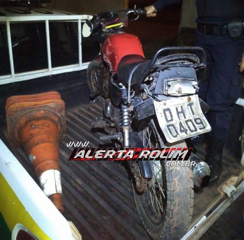 Rolim de Moura – Uma moto furtada em Nova Brasilândia e outra furtada em Cacoal são recuperadas pela PM
