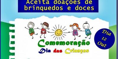 Santa Luzia – Campanha Faça uma Criança Feliz; Doe Brinquedos e Doces