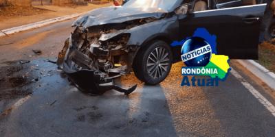 Veículo colide na traseira de carreta estacionada, em Ji-Paraná