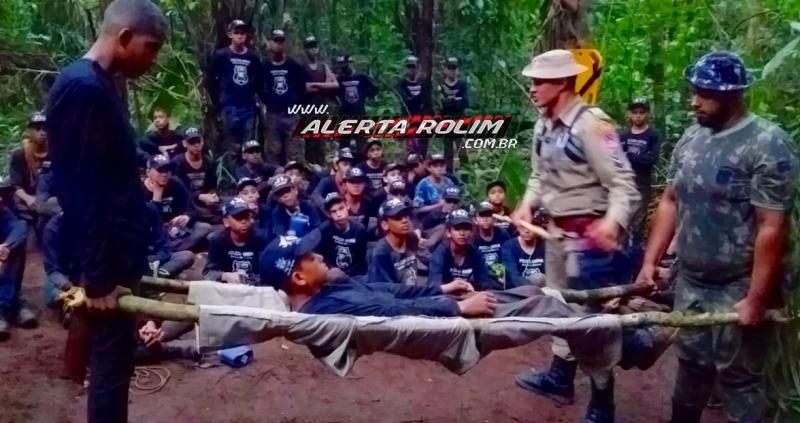 Resultado de imagem para 10° Batalhão da PM realiza mais um acampamento de selva com alunos da Polícia MIrim