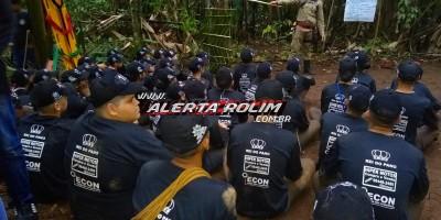 10º Batalhão em Rolim de Moura realiza acampamento de selva com alunos do Programa Social Polícia Mirim