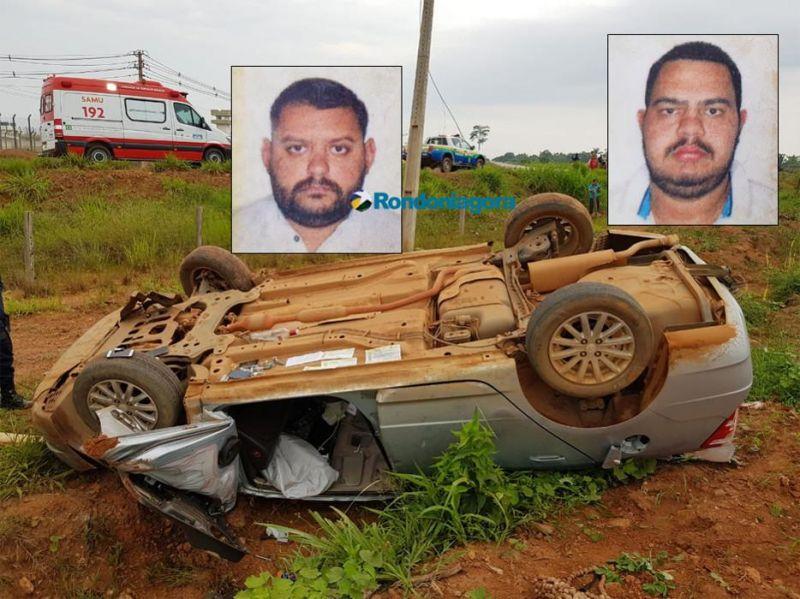 Dois homens morrem em grave capotamento na Estrada da Penal, em Porto Velho