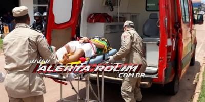 Rolim de Moura – Colisão envolvendo carro e moto na Avenida Norte Sul resulta em uma pessoa ferida