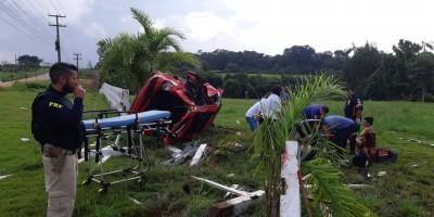 Feriadão: Grave acidente na BR-364 em Porto Velho deixa casal ferido; vídeo