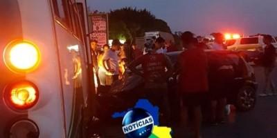 Grave acidente próximo a Presidente Médici deixa vários feridos e uma mulher presa as ferragens