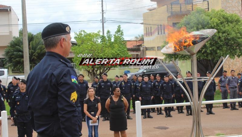 Polícia Militar do 10º Batalhão realiza solenidade em comemoração ao Dia da Bandeira Nacional