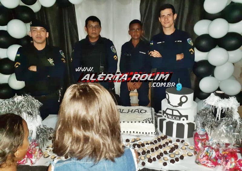 Policiais militares da área do 10º Batalhão realizam sonho de crianças ao participarem de festa de aniversário