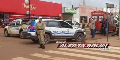 Rolim de Moura – Acidente de trânsito envolvendo carro e moto é registrado na manhã desta quarta-feira