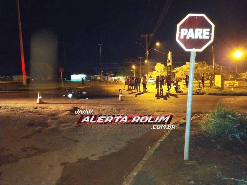 Rolim de Moura – ATUALIZADA – Jovem que perdeu a vida em grave acidente de trânsito é identificado; Uma jovem que estava na garupa da moto segue hospitalizada