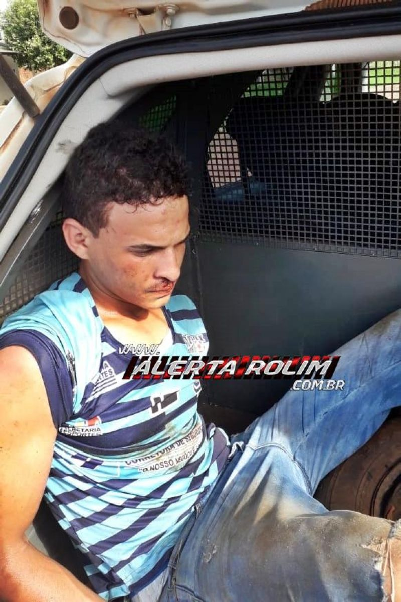 Rolim de Moura – Com a ajuda de populares, suspeito acaba preso pela PM após tentativa de roubo a uma mulher