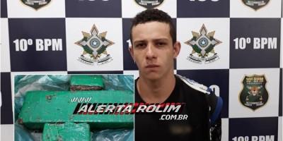 Rolim de Moura – Homem é preso pela PM com cerca de 01 kg de droga na RO-010, saída para Pimenta Bueno