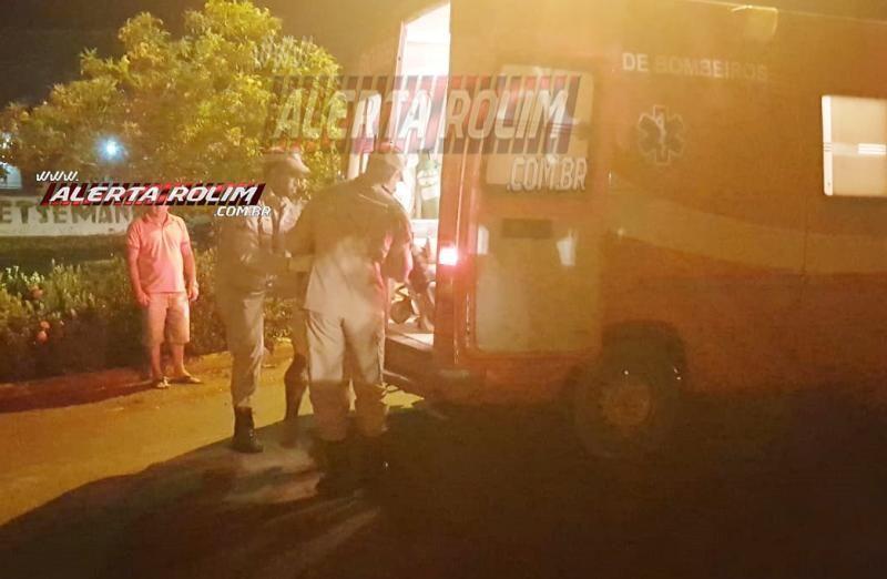 Rolim de Moura –  Motociclista fratura braço após colisão entre duas motos no Bairro Boa Esperança