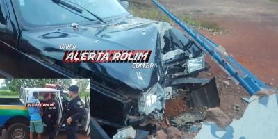 Rolim de Moura – Motorista embriagado perde o controle da direção de veículo e colide em muro do Lions clube no Bairro Olímpico