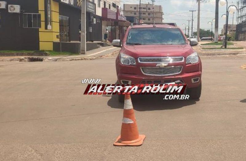 Rolim de Moura – Polícia Militar registra acidente de trânsito no Centro da cidade