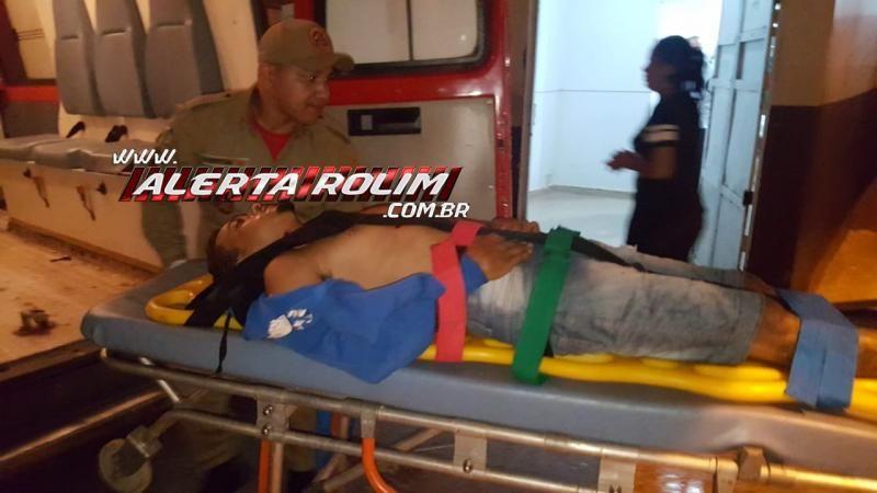 Rolim de Moura – Urgente – Homem sofre tentativa de homicídio ao ser atingido por dois disparos de arma de fogo