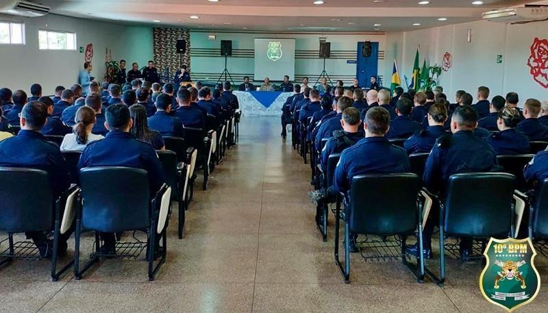 Solenidade alusiva aos 44 anos da PMRO é realizada pelo 10º Batalhão de Polícia Militar
