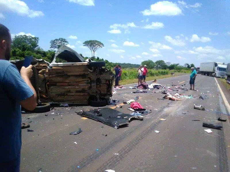 Três rondonienses da mesma família morrem em acidente no Mato Grosso do Sul; quarta vítima está em estado grave