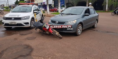 Rolim de Moura – Acidente de trânsito é registrado no Centro da cidade na manhã desta terça-feira