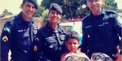 Polícia Militar do 10º Batalhão realiza sonhos de crianças em Rolim de Moura