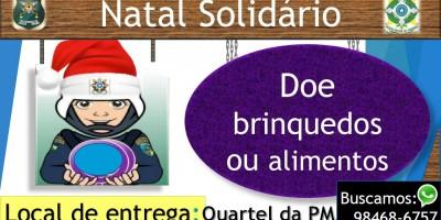 Rolim de Moura - Policia Militar do 10º Batalhão lança Natal Solidário
