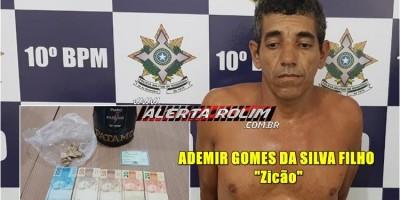 Rolim de Moura – Traficante é preso em flagrante pela equipe do PATAMO do 10º Batalhão