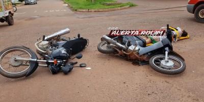 Rolim de Moura – Colisão entre motos no cruzamento da Rua Barão de Melgaço com Avenida São Paulo resulta em duas vítimas - Vídeo
