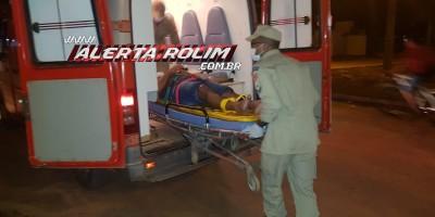 Rolim de Moura –  Motociclista sofre queda após passar por quebra-molas na Rua Brasflorest