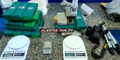16 kg de drogas são apreendidos pela PM em Cacoal, com condutor de Moto Aplicativo