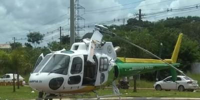 Hélice de helicóptero do Ciopaer bate em caminhão ao iniciar decolagem em Rio Branco - Vídeo