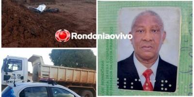 Idoso de 67 anos morre atropelado por trator, em Porto Velho
