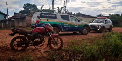 Moto roubada de Vigilante em Rolim de Moura é recuperada pela Polícia Militar em Pimenta Bueno
