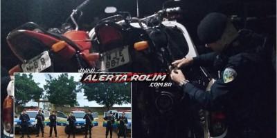 Motocicleta roubada e outra adulterada são apreendidas pela PM na Região de Nova Brasilândia