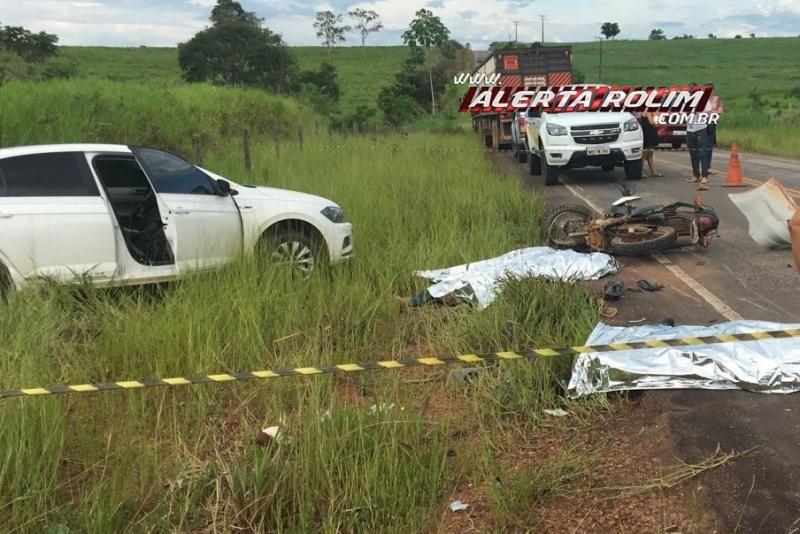 Pai e filho são as vítimas fatais do grave acidente de trânsito na RO-010, em Novo Horizonte
