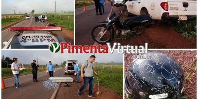 Pimenta Bueno - Acidente com motocicleta ceifa vida de ex-vocalista do Grupo ALG