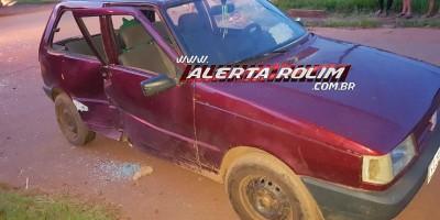 Rolim de Moura – Após colisão, bombeiros cortam lataria de carro para retirarem vítima presa no interior do veículo – Vídeo