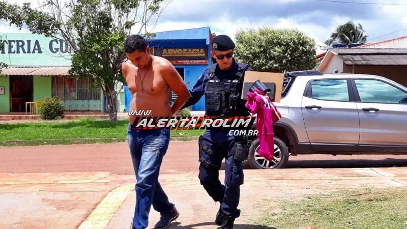 Rolim de Moura – Após roubo de moto, suspeito acaba preso pela PM; veículo foi recuperado e uma arma de fogo com munições foi apreendida