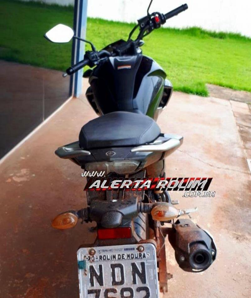 Rolim de Moura – Durante ação rápida da PM, moto furtada durante a madrugada é recuperada e dois criminosos são presos