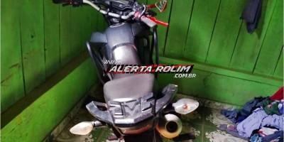 Rolim de Moura – Motocicleta roubada é recuperada pela Polícia Militar do 10º Batalhão