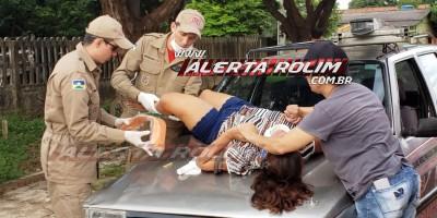 Rolim de Moura – Mulher é levada por mais de 40 metros em capô de carro em acidente de trânsito no Bairro Beira Rio – Vídeo