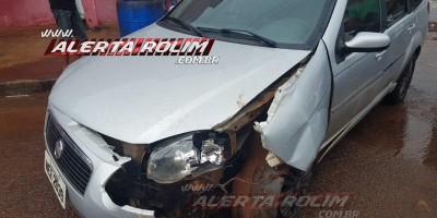 Rolim de Moura – Acidente de trânsito é registrado no Centro da cidade na tarde desta sexta-feira