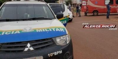 Rolim de Moura – Motorista avança preferencial, colide em motociclista e foge com carro pela contramão