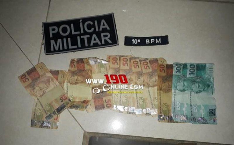 Alta Floresta – Jovem é preso com cerca de R$ 700,00 em notas falsas através denúncia anônima