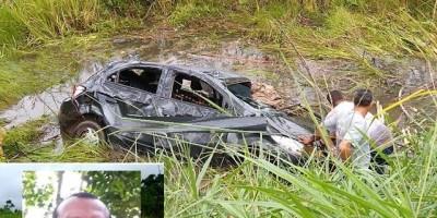 Capotamento em rodovia de Rondônia mata motorista e deixa dois em estado grave