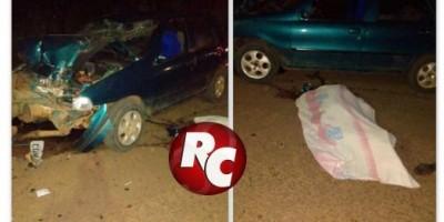 Colisão frontal entre moto e carro deixa dois mortos, em São Miguel do Guaporé