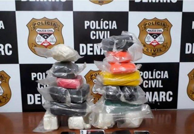 Dupla é presa com mais de 20 quilos de cocaína, em Porto Velho