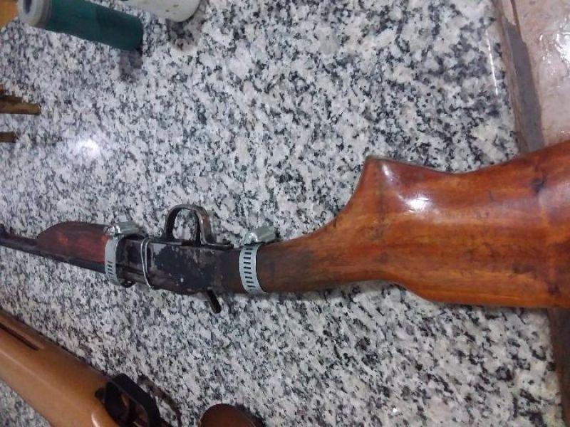Durante Operação Paz no Campo, cinco armas de fogo foram apreendidas pela PM, na Região de Pimenta Bueno
