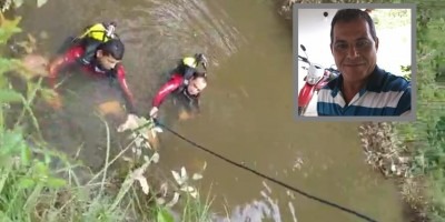 Homem morre afogado após carro cair em rio, em Espigão do Oeste