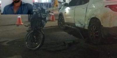 Motociclista morre após colidir com carro, em Cerejeiras